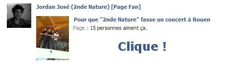 Page Facebook créée par moi-même