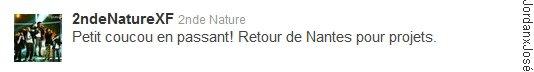 Messages de 2nde Nature sur leur Twitter (mercredi 06 juillet à 22h47) + Infos sur le concert du 26 juillet