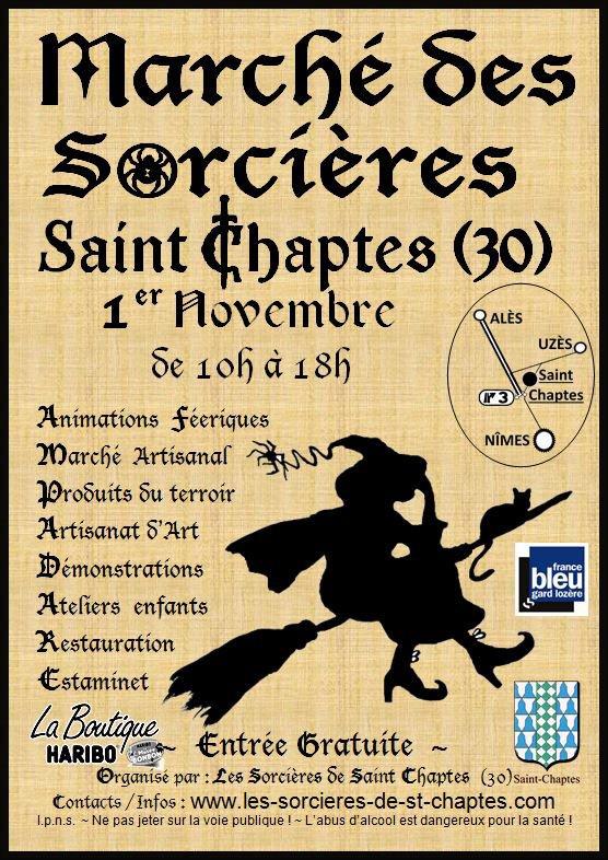 LE MARCHE AUX SORCIERES DE ST CHAPTES (30)