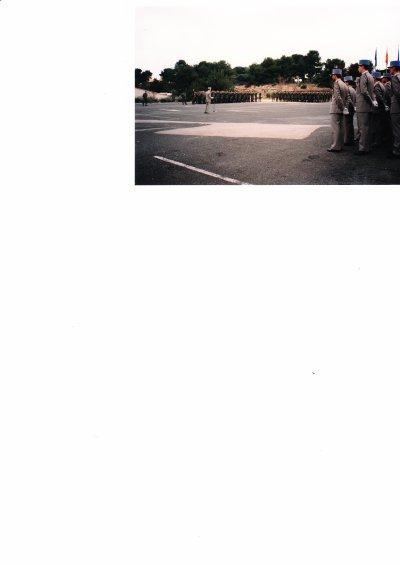 1992 présentation à l'étendard et remise de la fourragère à Roquefort la Bédoule