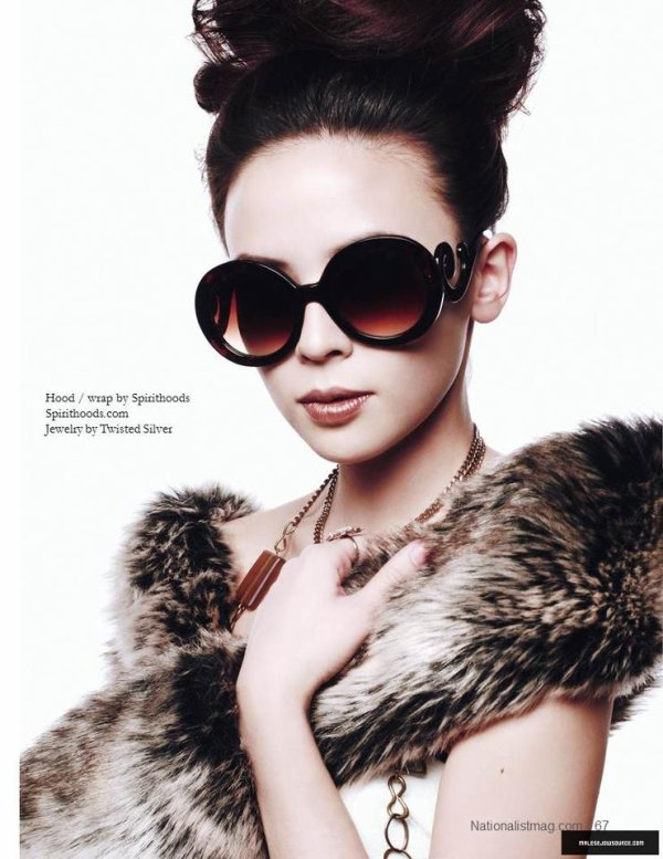 "Malese Jow dans le magazine ""Nationalist"""