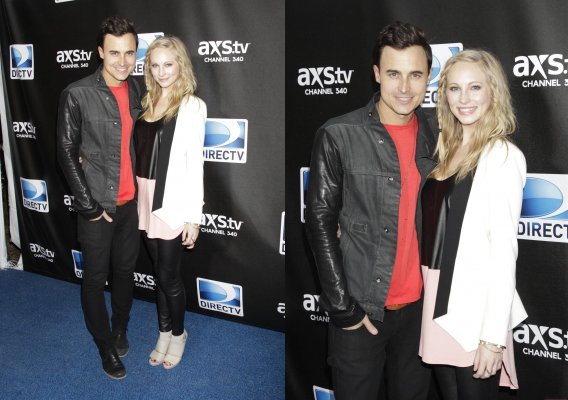 "Candice au ""Super Saturday Night party Direct TV"" & Katherina au ""Q102"""