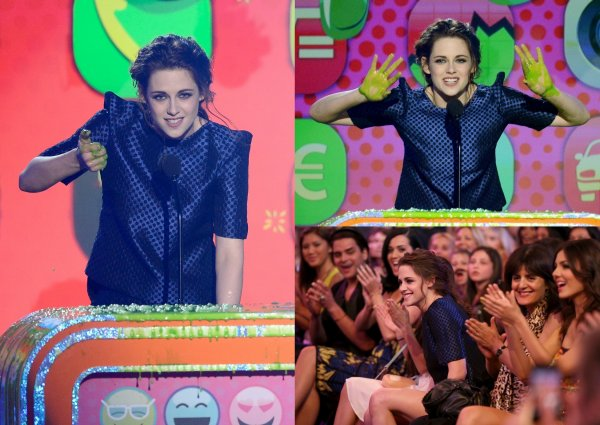 Rattrapage de news: Kristen aux Kids Choice Awards 2013