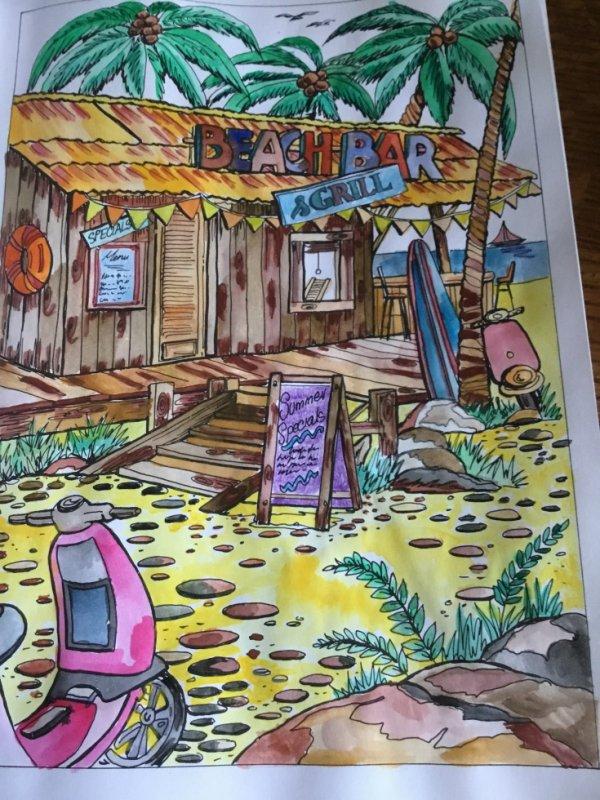 crayons et peinture