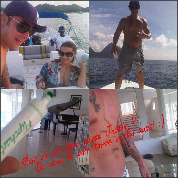 Justin avec papa et maman sur un GIGANTESQUE bateau privé :)