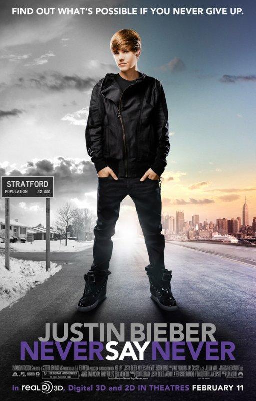 """film de Justin Bieber : Never Say Never est loin d'être un """"flop internationnal"""" comme le promettait fan2.fr. Exclusivité Justinbieber-Life.sky"""