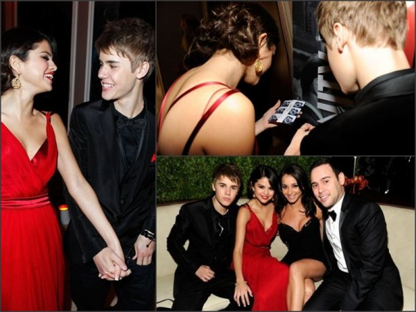 Justin et Selena encore ensemble au Vanity Fair Oscar Party.