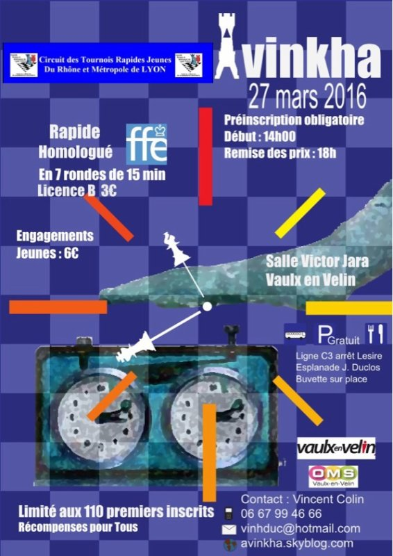 TOURNOI JEUNES DU CRMLE ÉTAPE AVINKHA DU 27 MARS 2016