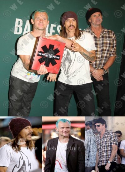 Pictures Anthony, Flea and Chad at The Grove in LA