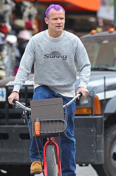 Flea in the East Village, New York City # Bicycle Song (B-Sides By The Way)