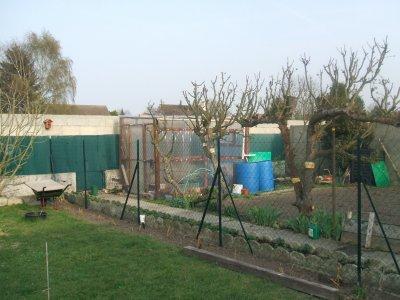 séparation du potager et de la pelouse