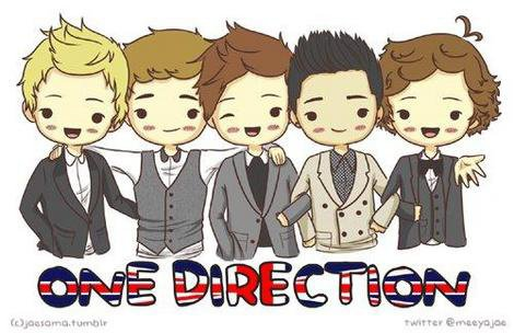 one direction caricature