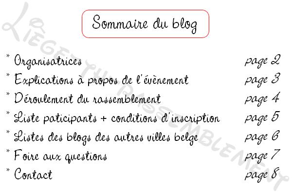 Sommaire du blog