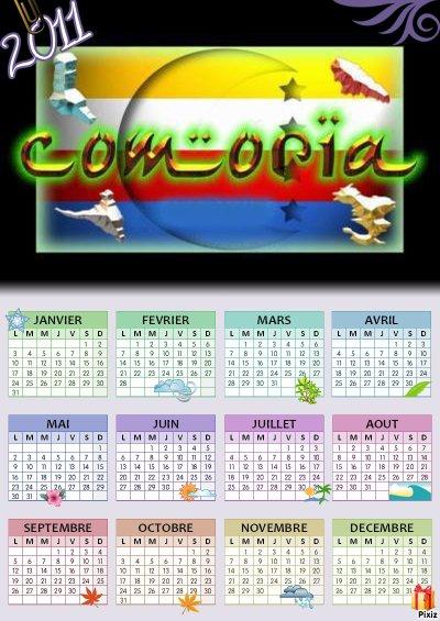 calendrier comorien <3