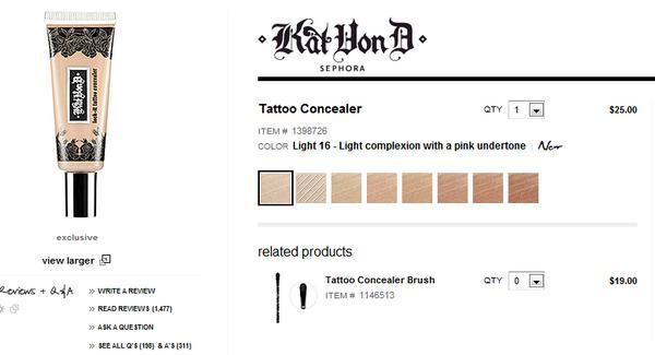 Kat Von D Without Tattoos for Sephora