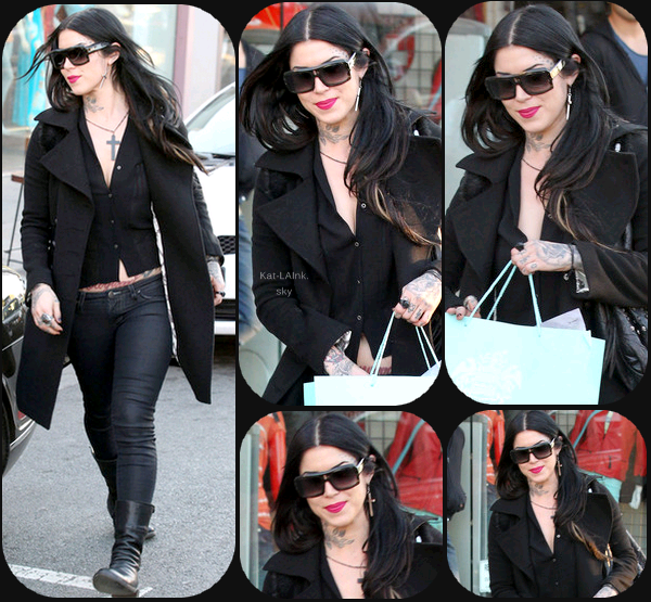 Kat Von D Shopping On Melrose