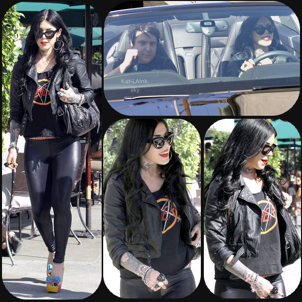 Kat Von D Out For Lunch In West Hollywood