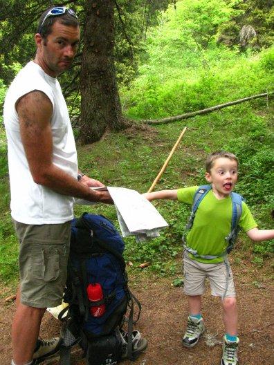 depart en randonnée pour un bivouac