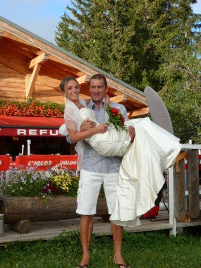 les mariés à 1600 mètres