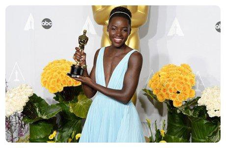 Lupita Nyong'o ou la nouvelle beauté africaine.
