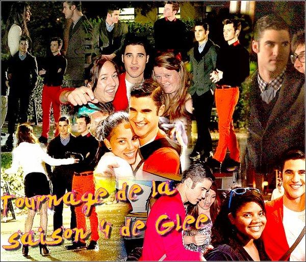 Sur le tournage de la saison 4 de Glee