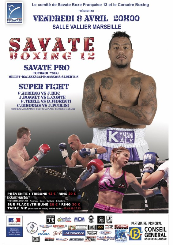 SAVATE BOXING 12: PREVENTES DISPO