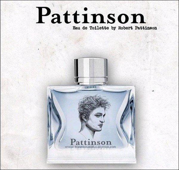 """""""Pattinson, the new fragrance, by F-x"""" ! Et oui, Rob envahie tellement le coeur des fans qu' un parfum à son effigie qui aurait sa propre odeur se vendrait comme un petit pain ! D'autant plus que ce projet est tout à fait réalisable, car nos scientifiques auraient mis au point un procédé qui pourrait recréer exactement l'odeur d'une personne, grâce à un prélèvement de son ADN ! ... Mais histoire de rassurer les fans réalistes qui n'ont pas encore perdu leur sang froid, cette idée est encore loin de voir le jour ..."""