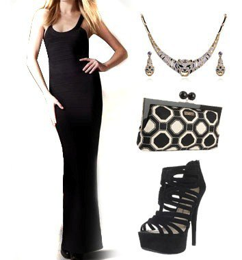 Accessorize a Long Black Evening Dress
