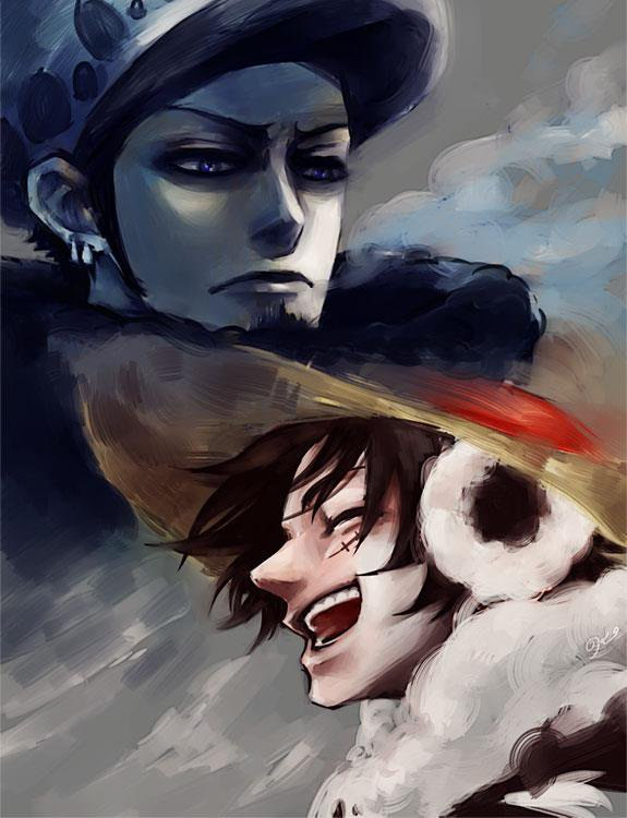 Monkey-D-Luffy et Trafalgar Law