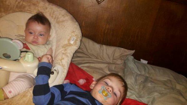 Ma fille et mon fils de 3 ans