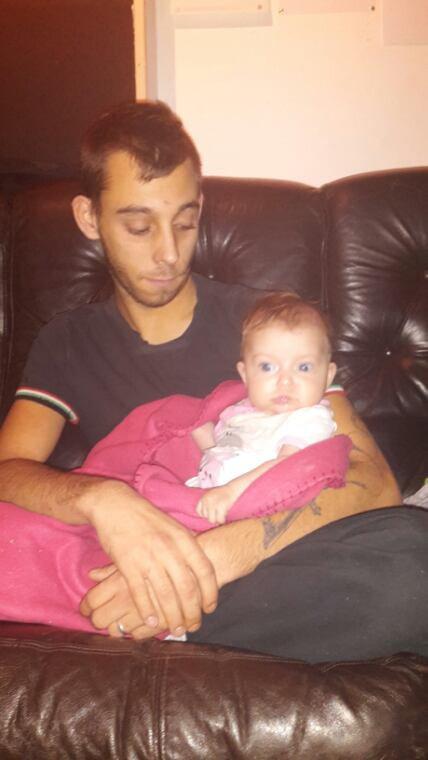 Kimberly 5 mois et son papa