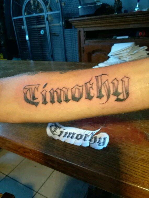 Le tatouage de mon homme pour timothy