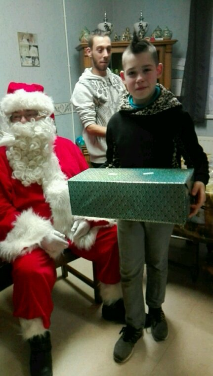 Jérémy et papa Noël