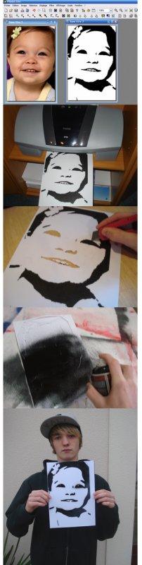 comment faire un pochoir - Comment Fabriquer Un Pochoir Peinture
