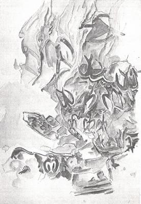 """7e article de FD: """"Fresque du plafond de la grotte Ana Kai Tangata"""""""