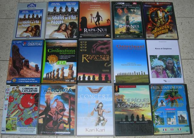 Liste de mes DVD sur l'île de Pâques