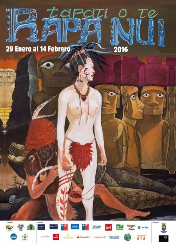 Affiches des tapati 2012, 2013, 2014, 2015, 2016 & 2017