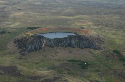 vue aérienne du Rano Raraku