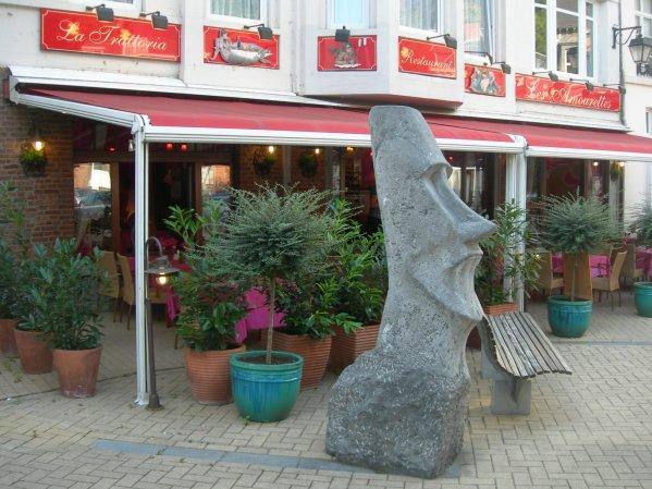 Un moai à Dinant (Belgique)
