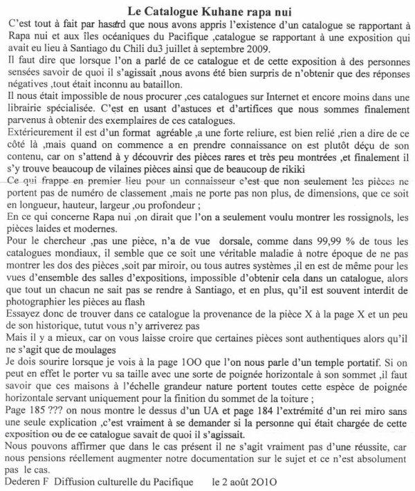 """69e article de FD: """"Le catalogue Kuhane Rapa Nui"""" (2/2)"""