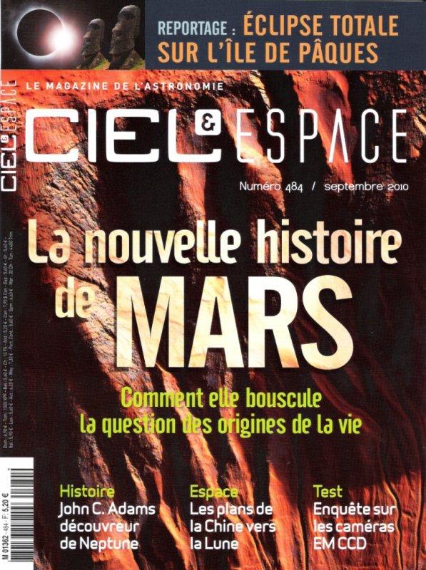 Ciel & Espace n° 484 - septembre 2010 - couverture