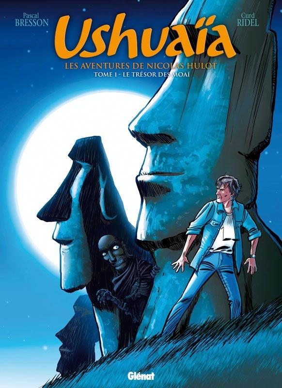 BD Ushuaïa - Les aventures de Nicolas Hulot - tome 1 - Le trésor des moai - couverture