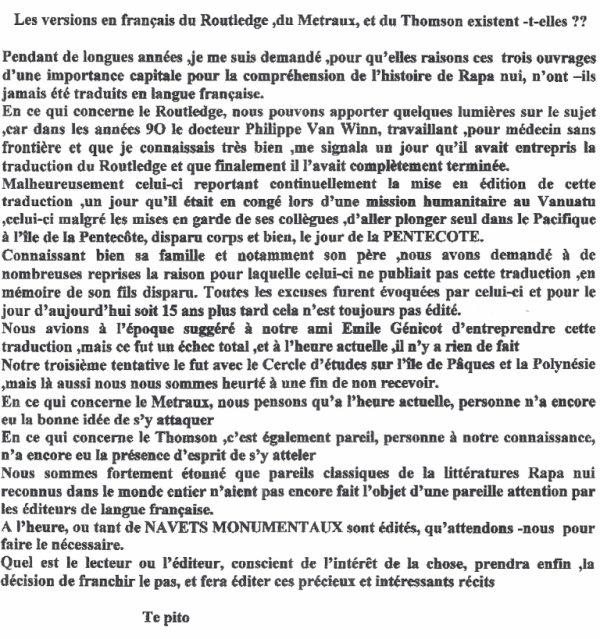 """80e article de FD (1/4): """"Les versions en français du """"Routledge, du """"Métraux"""" & du Thomson"""" existent-t-elles ?"""