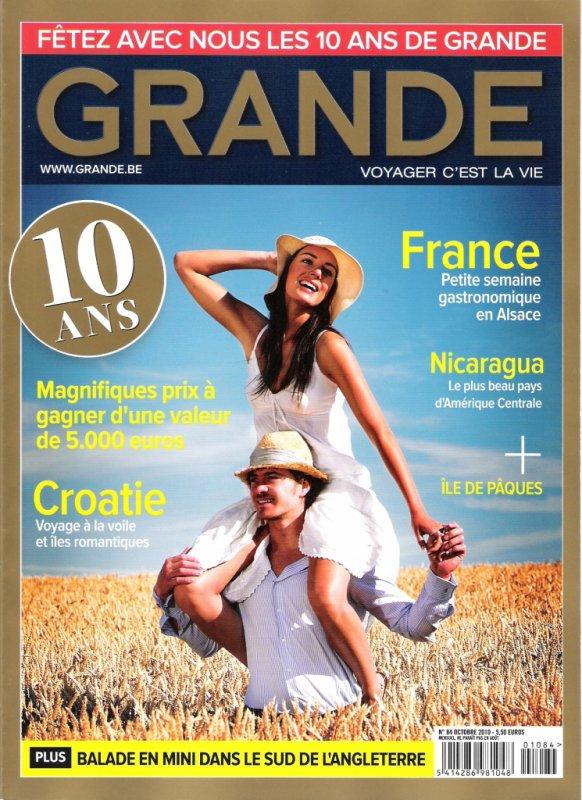 "magazine ""Grande"" n° 84 d'octobre 2010"