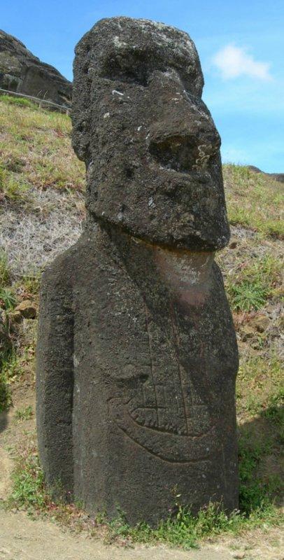 moai avec le navire gravé - 14/11/2005