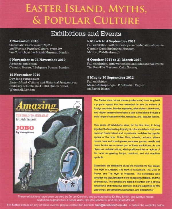 "Exposition ""Easter Island, myths & popular culture"" à Londres jusqu'au 26/11/2010"