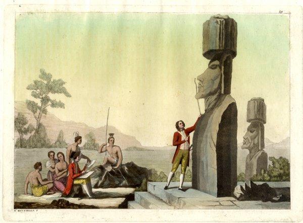 gravure en couleurs de Giulio Ferrario de 1827