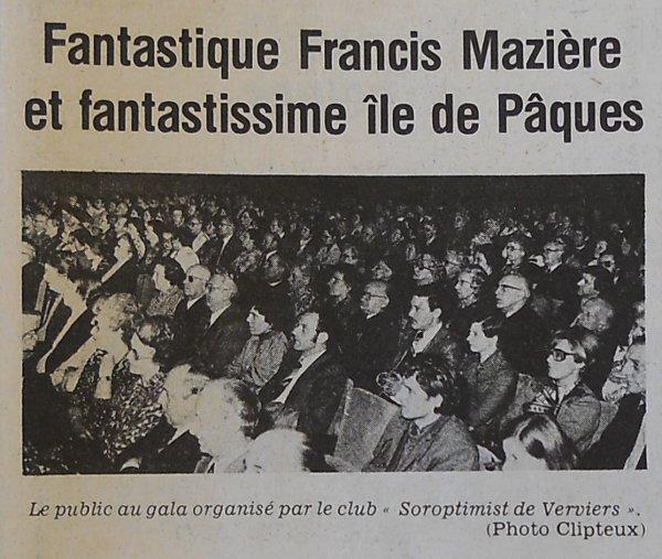 """""""Fantastique Ile de Pâques"""" à Verviers (Belgique) le 02/04/1976 - 1"""