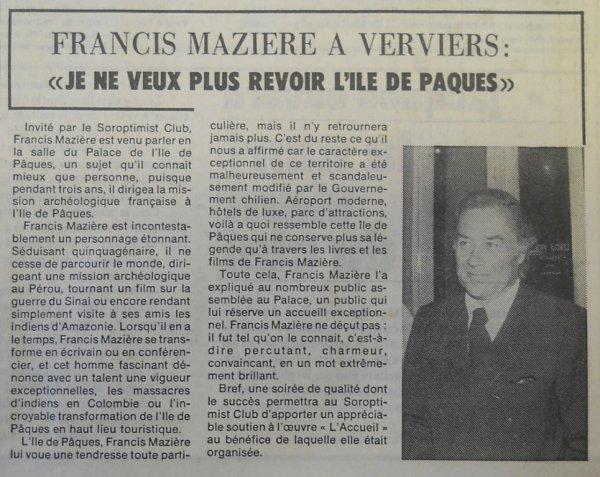 """""""Fantastique Ile de Pâques"""" à Verviers (Belgique) le 02/04/1976 - 3"""