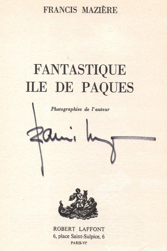 """""""Fantastique Ile de Pâques"""" à Verviers (Belgique) le 02/04/1976 - dédicace - 5"""